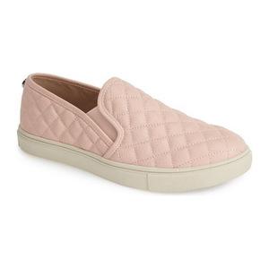史蒂夫·马登 女士一脚蹬运动鞋 #Pink Faux Leather