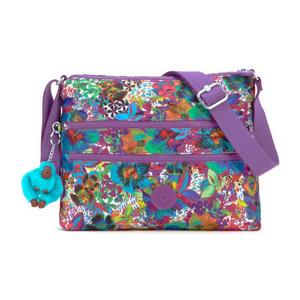 凯浦林(Kipling) 女士尼龙单肩包 #Aloha Grove Purple