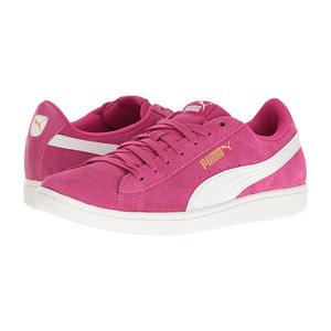 彪马 女士休闲鞋 #Rose Violet/Puma White