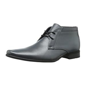 卡尔文·克雷恩 卡尔文克莱恩-男式Ballard冷灰色皮革靴子 #Steel