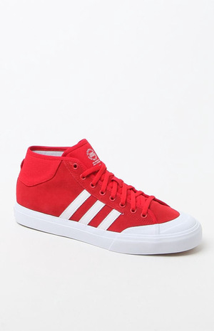 阿迪达斯(Adidas) 高帮鞋 #RED/WHITE