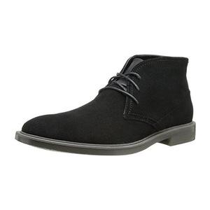 卡尔文·克雷恩 卡尔文克莱恩-男式Ulysses黑色仿麂皮高帮皮马靴 #Black