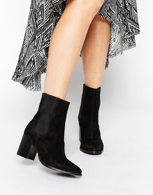 ASOS -黑色皮质短靴 #Black