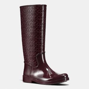 蔻驰(Coach) 女士中筒靴 #WARM OXBLOOD/WARM OXBLOOD