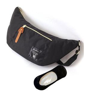 anelloアネロ[アネロ] anello 正規品ショルダーバッグボディバッグ【オリジナル靴下セット】 #ブラック