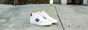 新百伦(New Balance) Pro Court 213 #白色 + 品蓝橙色 #White with Royal Blue & Orange