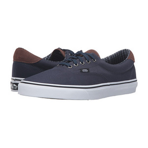 万斯(Vans) Era 59 #Cord   Plaid Dress BluesTrue 白色 #(Cord & Plaid) Dress Blues/True White