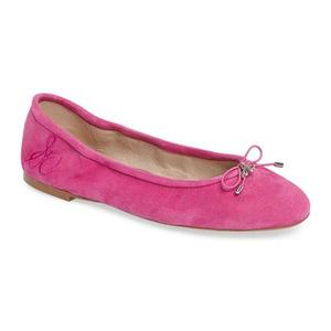 山姆爱德曼(Sam Edelman) Felicia 平底鞋 #玫红色真皮 #Hot Pink Leather