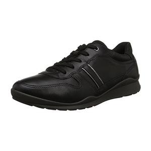 爱步 Ecco Footwear Womens Mobile III Premium 运动鞋平底鞋 #黑色 #Black