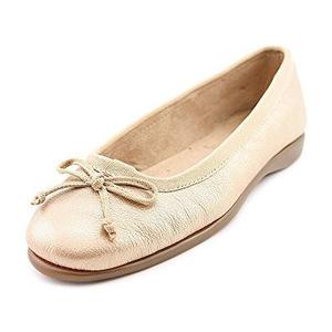 爱柔仕(Aerosoles) 女式蝴蝶结浅口芭蕾平底鞋 #Champagne Leather