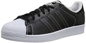 阿迪达斯(Adidas) 男式Superstar黑白色篮球运动板鞋 #White/White/White