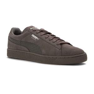 彪马(PUMA) 男士经典麂皮休闲鞋 #Steel Gray/Puma Silver