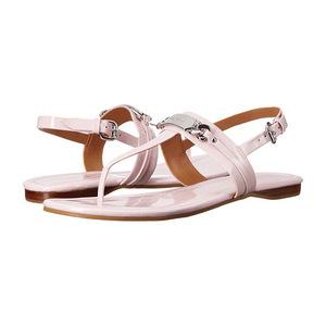 蔻驰(Coach) 多色可选!性价比最高!粉色夹脚凉鞋 #Petal