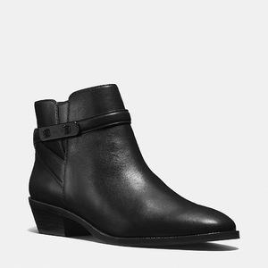 蔻驰(Coach) 女士真皮短筒靴 #BLACK