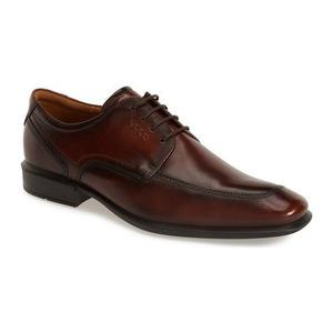爱步 男士Apron Toe牛津鞋 #Walnut Leather