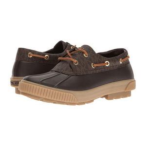 MICHAEL Michael Kors 女士船鞋 #Brown Rubber/Mini MK Logo PVC