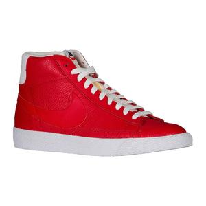 耐克 Blazer 中  Mens #Game RedBlackGum Light BrownWhite  Width  D  中号  Premium #Game Red/Black/Gum Light Brown/White   Width - D - Medium   Premium