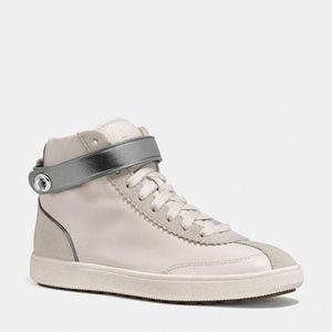 蔻驰(Coach) 女士高帮休闲鞋 #CHALK/CHALK