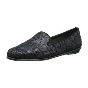 爱柔仕(Aerosoles) 女式花纹乐福鞋 #Black Embellish