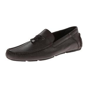卡尔文·克雷恩 Macon EPI 男式深棕色乐福鞋休闲皮鞋 #Dark Brown