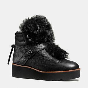 蔻驰(Coach) 女士短筒靴 #BLACK/BLACK