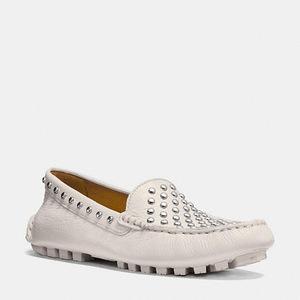 蔻驰(Coach) 女士软皮平底鞋 #CHALK