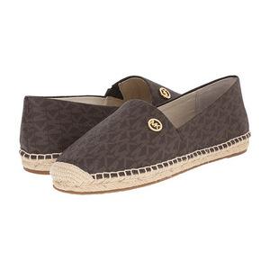 MICHAEL Michael Kors 女士平底鞋 #Brown Mini Mk Sig Pvc