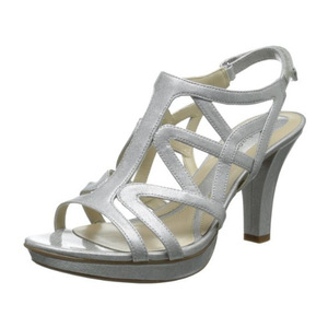 娜然(Naturalizer) Womens Danya Dress Sandal #银色 Crosshatch #Silver Crosshatch