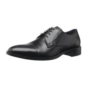 可汗(Cole Haan) Men's Lenox Hill Cap Oxford男式正装皮鞋 #Black