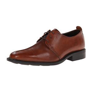 可汗(Cole Haan) Men's Cain Cntr Seam Oxford男式系带牛津鞋 #Saddle Tan