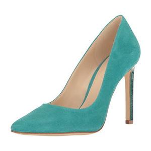玖熙(NINE WEST) Womens Tatiana 麂皮 Dress Pump #暗蓝绿色 #Dark Turquoise