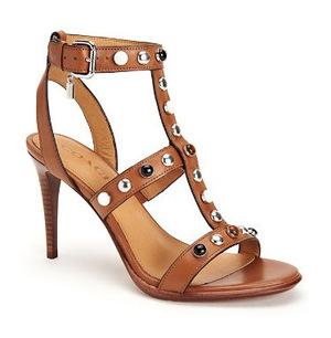 蔻驰 女士高跟鞋 #Saddle/Silver