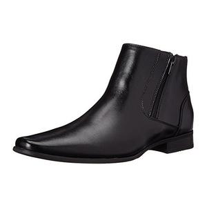 卡尔文·克雷恩 卡尔文克莱恩-男式Beck黑色皮革靴子 #Black