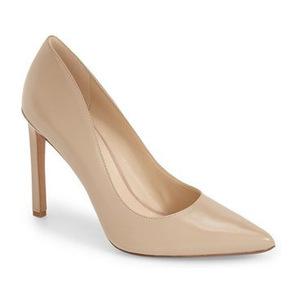 玖熙(NINE WEST) 女士尖趾高跟鞋 #Natural Leather
