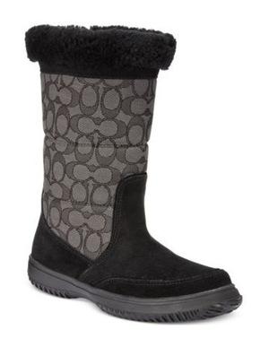 蔻驰(Coach) COACH Sherman Signature Cold Weather Boots #黑色 #BLACK