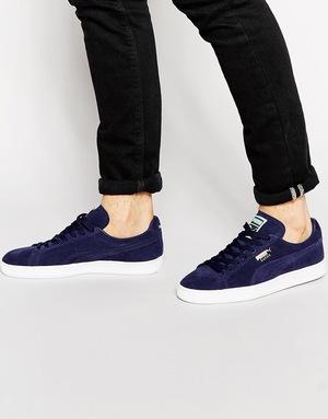 彪马(PUMA) 男士麂皮休闲鞋 #Blue