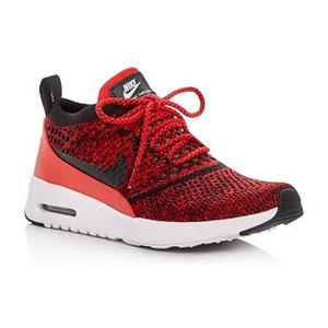 耐克 女士系带板鞋 #University Red/Black