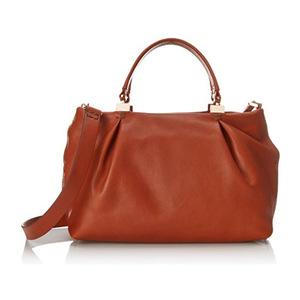 库芭 Handbags Loretta 挎包 Top Handle Bag #Cognac
