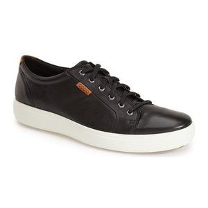 爱步 'Soft VII' Sneaker (Men)-黑色真皮 #Black Leather